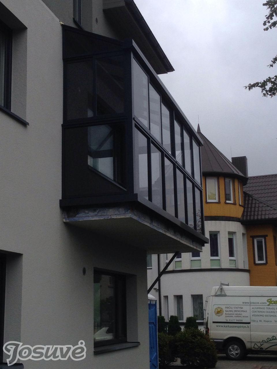 balkono stiklinimas